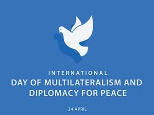 Вітаємо всіх причетних до дипломатії з Міжнародним днем багатосторонності і дипломатії в ім'я миру!