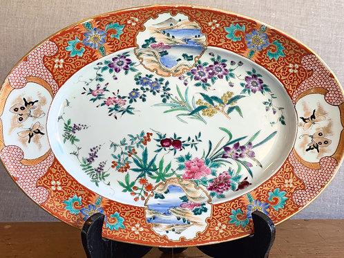 19th C Chinese Porcelain Platter w/Landscape Scene