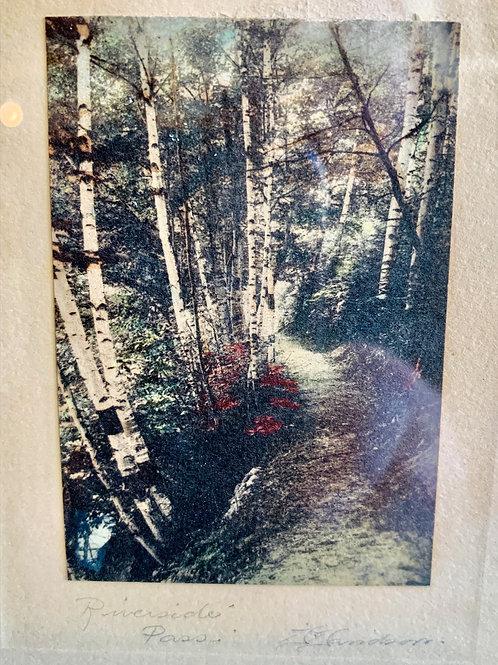 Hand Tinted Photograph Riverside Pass by Gardiner