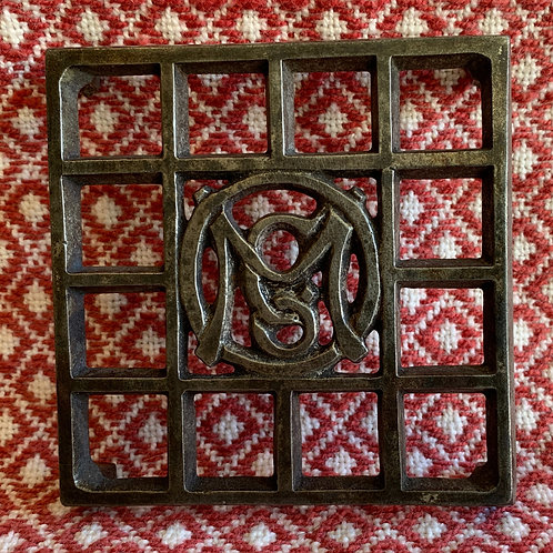 Small Cast Iron Trivet Ober Manufacturing Chagrin Falls Ohio