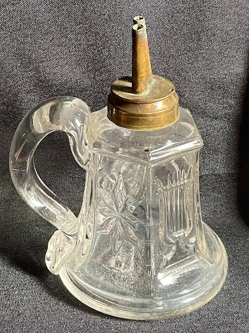 Flint Glass Finger Whale Oil Lamp Star Punty