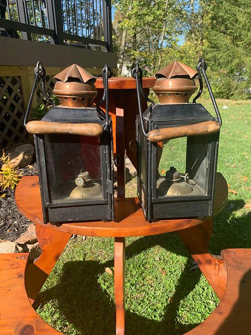 Pair of French Railroad Lanterns