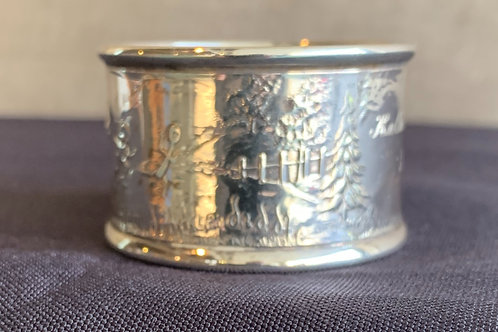 Sterling Silver Nursery Rhyme Napkin Ring