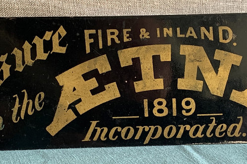 1867 Double Sided Aetna Insurance Flange Sign
