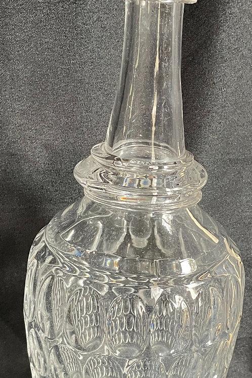 Flint Back Bar Bottle Decanter in Thumbprint Pattern