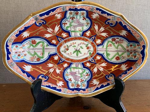 English Platter in Oriental Style
