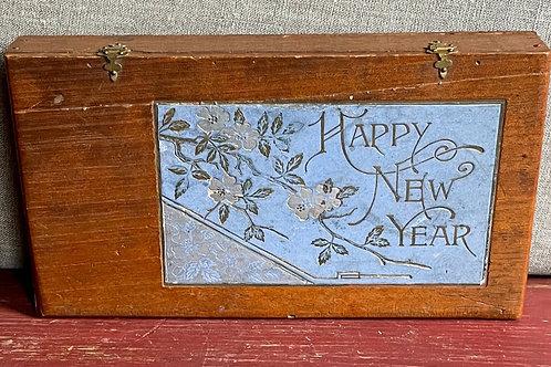 1883 Holiday Christmas/New Year Cigar Box