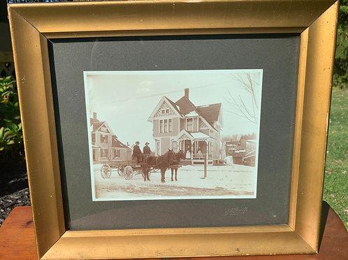 1890's Albumen Photograph Freight Baggage Wagon New York