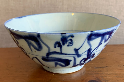 19th C Chinese bowl in Blue Decoration
