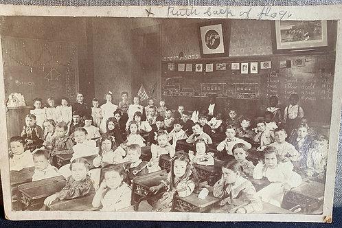 Albumen Photograph of Grade School Class