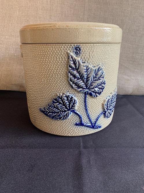 White's Utica Stoneware Covered Storage Jar