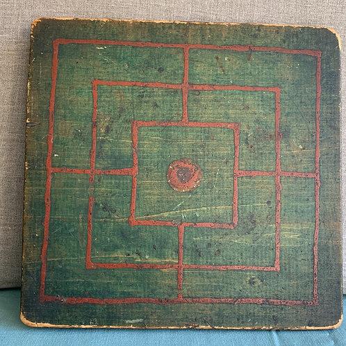 Handmade Folk Art Game Board - Dated 1873