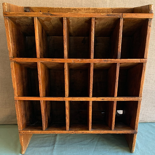 Primitive Wall Mounted Sorting Shelf/Cubby