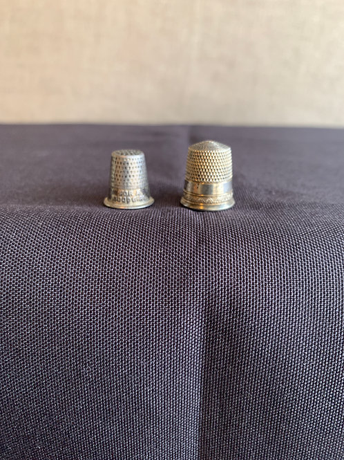 Pair of Child's  Thimbles Sterling Silver