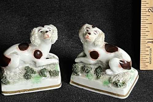 Pair of Miniature Dog Figurines- German Gold Anchor