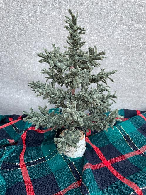 """8"""" Wool Tree in Green"""