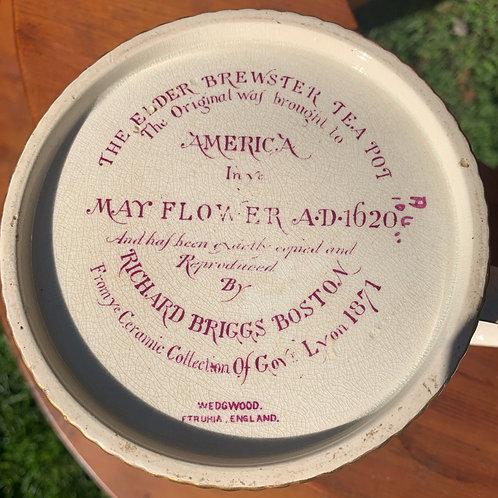 Wedgwood Mayflower Teapot Elder Brewster