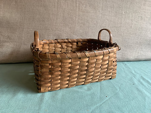 Small Splint Storage Basket with Two Handles