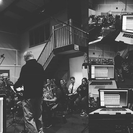 Brass band recording a few weekends back