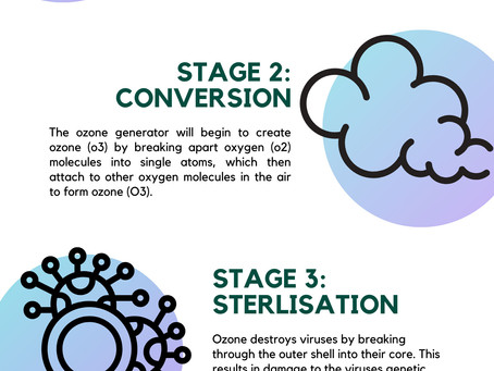 Ozone Sanitisation Process