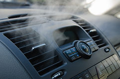 The process of cleaning car air conditio