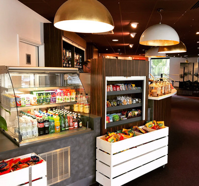 Hertford Theatre retail counters design and fit out by Dupont Latour