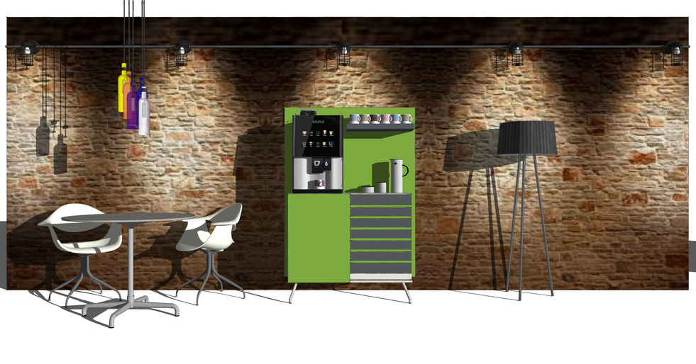 Coffee Station with Vitro counter top coffee machine Design By Dupont Latour