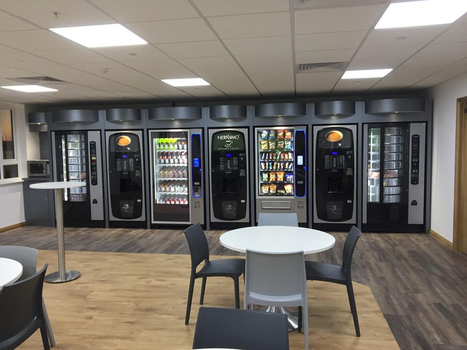 Be-spoke vending housing by Dupont Latour