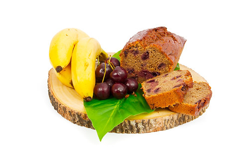 Banana and cherry loaf