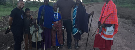Maasai village tour derrick and Jafari