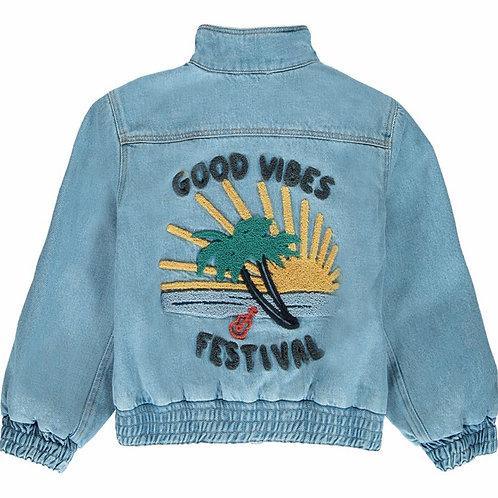 Good Vibes Vintage Denim Jacket