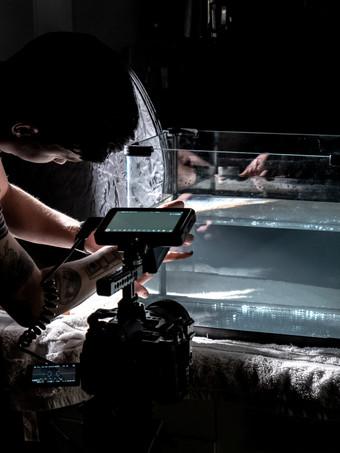 Filming in the VTC studio