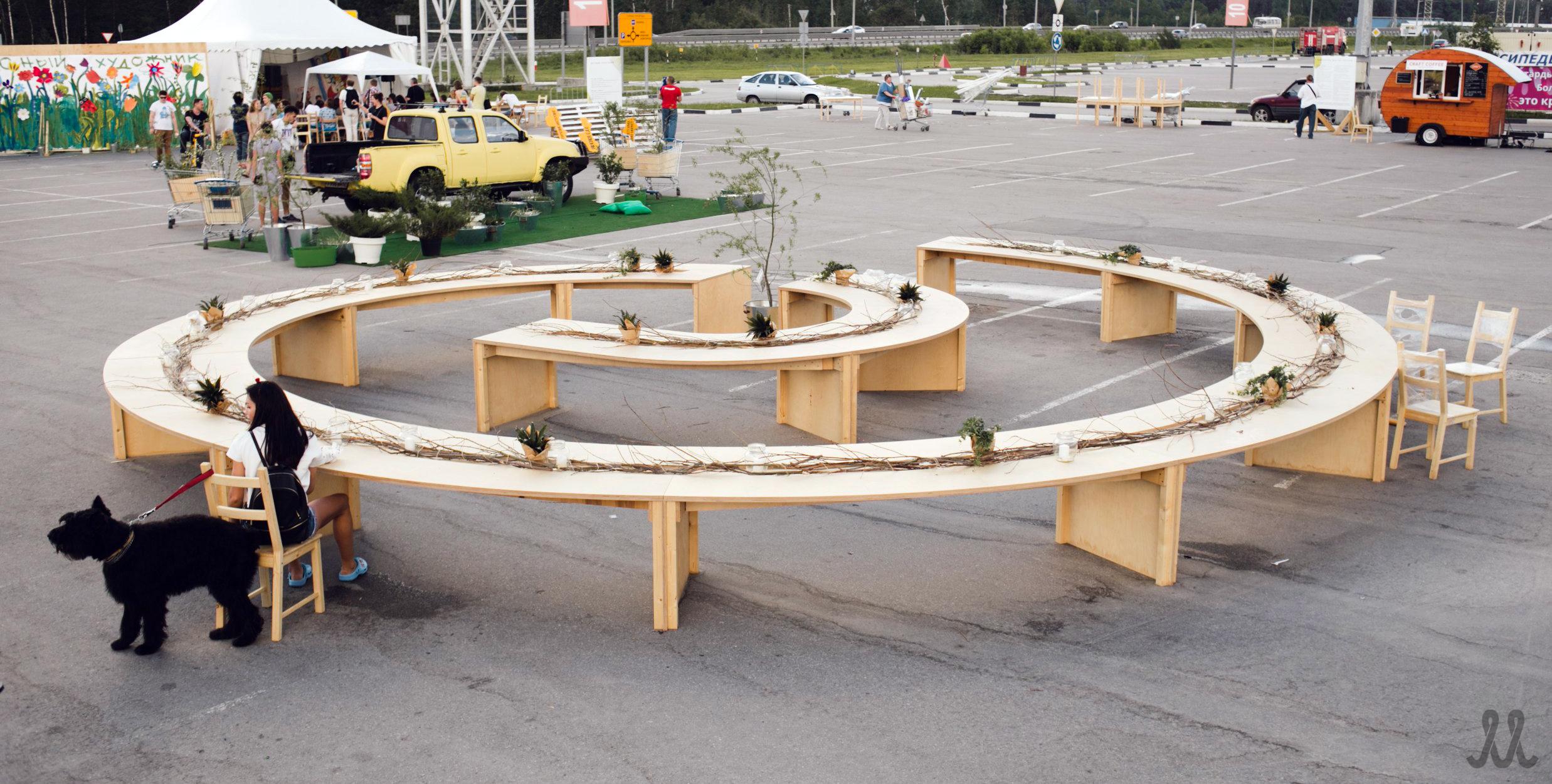 Стол-спираль / Spiral-table