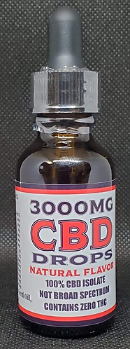 3000mg CBD Isolate Sublingual Drops