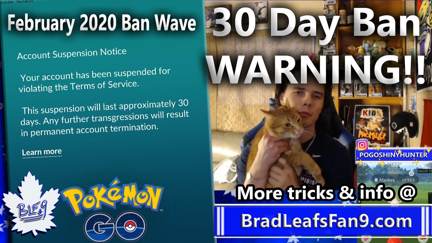 FEB 2020 Ban Wave Part 1