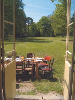 Lunch in de tuin