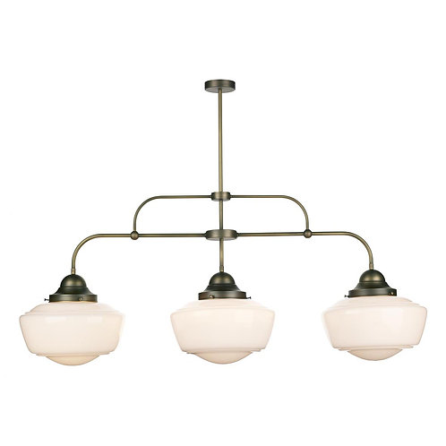 Diner Light Antique Triple