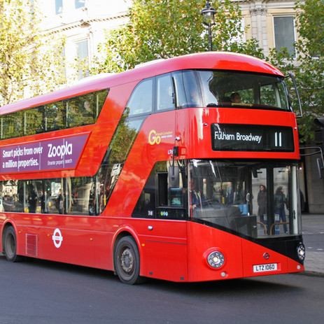The red bus is your friend.