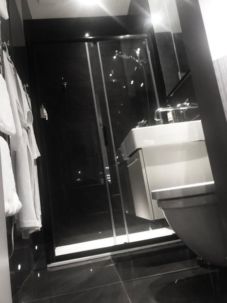 Clean, modern bathrooms.