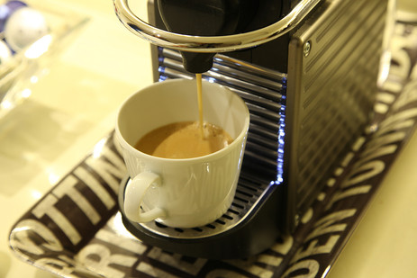 Strong espresso always on tap.