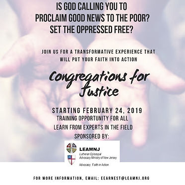 Congregations for Justice Flyer 11.5.18