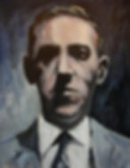 Portrait of H.P Lovecraft in oil