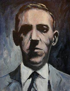 Portrait of H.P Lovecraft in oil