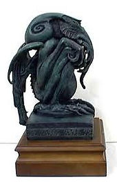 Statue of Stephen Hickman's Cthulhu