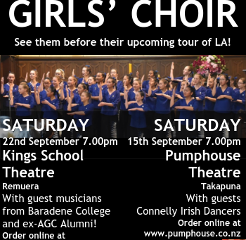 Farewell Concerts 15 Sep at Pumphouse, 22 Sep at King's School Hall