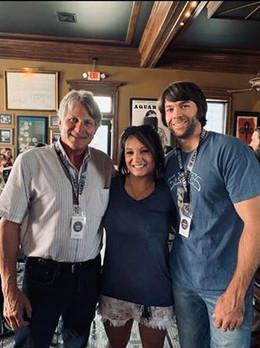 Trey with Mike Woodard and Megan McMillan