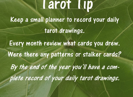 Tarot Tip: Recording Your Daily Cards