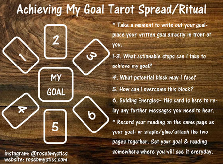 Achieving My Goal: Tarot Spread/Ritual