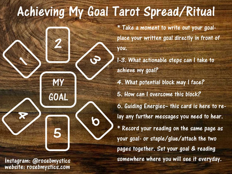 Achieving My Goal: Tarot Spread/Ritual
