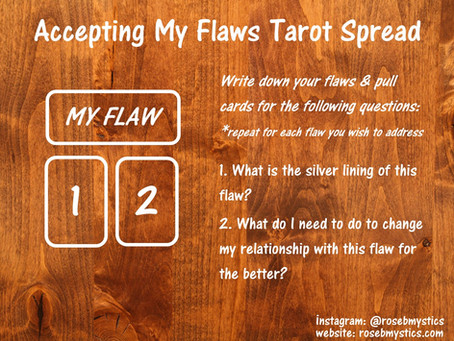 Accepting My Flaws Tarot Spread